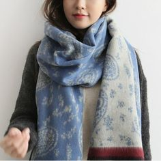 Tnine Luxury Brand Scarf for Women Vintage Cashew Nuts Printed Cashmere  Scarf Ladies Winter Warm Pashmina cea81ced8840