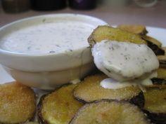 Gluten Free Deep Fried Pickles with Vegan Buttermilk Ranch Dip   The Gluten Free Vegan