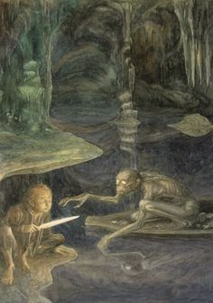 Bilbo and Gollum Amazing Artworks By Alan Lee artworks-32 – Digital Concepts, Modern Design