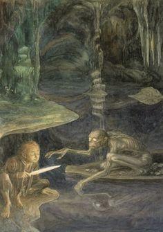 Bilbo and Gollum Amazing Artworks By Alan Lee artworks-32 – Digital Concepts, Modern Design