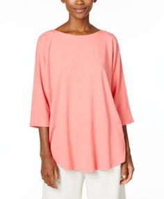 Eileen Fisher Jersey Knit Boat-Neck Top | macys.com
