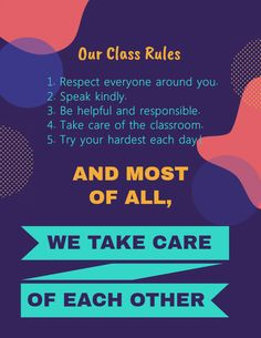 Funky Printable Clroom Rules Poster Editable Template And Procedures Cl
