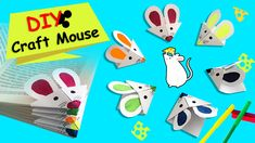 How to make easy bookmark corner for a cute mouse?!?  Step by step bookmark making video to teach how to make bookmark mouse figures for your books!  Create your own origami mice to decorate your bookmarks :) Don't forget to subscribe for easy paper crafts for kids. Bookmark Making, How To Make Bookmarks, Origami Mouse, Paper Bookmarks, Book Corners, Cute Mouse, Paper Crafts For Kids, Mice, Make It Simple