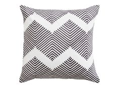 Ryker Embroidered Cushion 45 x 45 cm, Grey