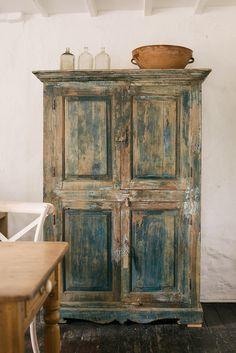Distressed vintage cupboard