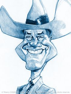 Larry Hagman by Thierry Coquelet
