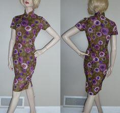 Vintage 50er Jahre 60er Jahre Cheongsam Kleid von HookandEyeVintage, $64.00