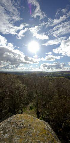 vertical panorama at Brimham Rocks