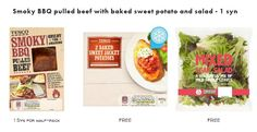 Meal combos for the slimming world diet available at Tesco