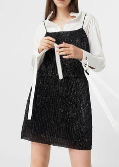 Sequined dress   MANGO