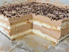 za 8 minuta Eurokrem kolac crno beli ne kuva se i ne pece Torte Recepti, Kolaci I Torte, Baking Recipes, Cookie Recipes, Baklava Cheesecake, Bosnian Recipes, Torte Cake, Homemade Cakes, Sweet Desserts