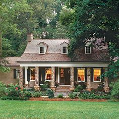 So cozy and warm...I have this picture saved in southern living.  It's an amazing before and after transformation
