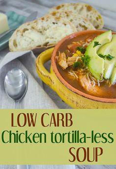 Mending the Piggy Bank | Squealin' Good Food: Low Carb Chicken Tortilla-less Soup {Guest Post}
