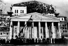 Маскируют Большой театр. Москва 1941-го года (92 фото)
