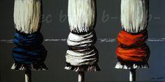 """""""Les parasols noeuds gros plan"""" Tableau original peint par l'artiste peintre B-LEC www.b-lec.sitew.com"""