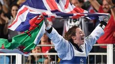Jade Jones successfully defends her Olympic title in taekwondo. 18th August 2016