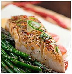 Jerk-Spiced Tilapia with Asparagus and Rice Pilaf by the eat-clean diet