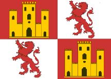 Spanish Royal Standard Flag of Cabrillo 1542 representing the King and Queen of Spain