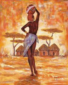 Mis Laminas para Decoupage (pág. 755) | Aprender manualidades es facilisimo.com African Artwork, African Art Paintings, Crayons Pastel, Modern Art, Contemporary Art, Africa Painting, Afrique Art, Figurative Kunst, Art Africain