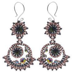 Tutorial - How to: Vitrial Decadence Earrings | Beadaholique