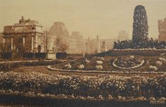 Jardin de Tuileries, Paris, France - Unused Postcard by ChicEtChoc on Etsy