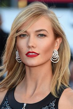 Kloss demonstrated the slimming, highlighting, all-around perfecting powers of well-contoured cheekbones, on models and mortals alike.   - HarpersBAZAAR.com