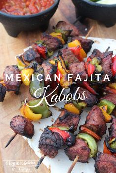 50 To-Die-For Low-Carb Mexican Recipes Mexican Fajita Kabobs Meat lovers come here Here is the best lunch 038 dinner recipes that you can indulge guilt free It is a great party food as well paleobeef lowcarbchicken paleochicken Kabob Recipes, Grilling Recipes, Mexican Food Recipes, Beef Recipes, Cooking Recipes, Dessert Recipes, Party Recipes, Recipies, Low Carb Recipes