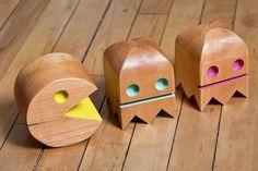 Wooden Pacman Themed Figures |Gadgetsin