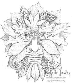 green man coloring pages - Google Search --> For the most popular adult coloring books and supplies including colored pencils, drawing markers, gel pens and watercolors, logon to http://ColoringToolkit.com. Color... Relax... Chill.
