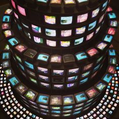 백남준-다다익선 Nam June Paik, Fluxus, Florida, Installation Art, Neon, Sculpture, Spam, Screens, Cyber