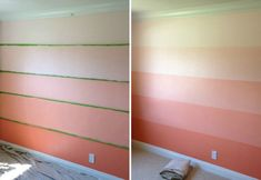 Coral Ombre wall in