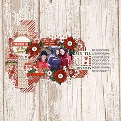 Template: Happy Ho Ho Ho by Two Tiny Turtles Kit: Pocket Life '15 - Holiday Edition - Traci Reed