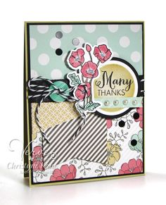 Handmade card by Christyne Kane using the Floral Notes set and dies from Verve. #vervestamps