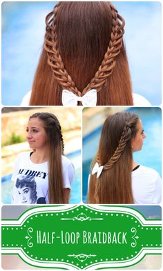 Half-Loop Braidback Tutorial: Click to see video tutorial, more photos, and step-by-step instructions