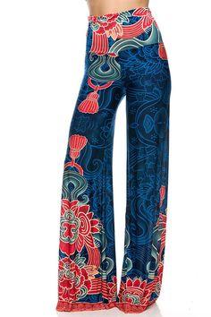 High Waist Fold Over Wide Leg Gaucho Palazzo Pants (Odyssey) Next Fashion, Fashion Outfits, Printed Palazzo Pants, Gaucho, Bell Bottom Jeans, Pants For Women, Legs, My Style, Shopping