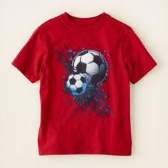 boy - soccer graphic tee