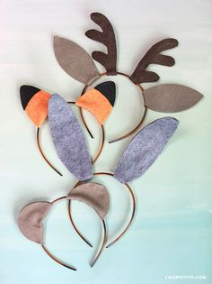 DIY Woodland Friends Ears Halloween or Party Costumes from MichaelsMakers Lia Griffith: