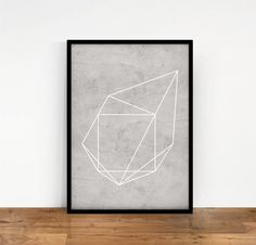 Geometric Print Abstract Geometric Artwork by NouveauPrints Geometric Artwork, Wall Decor, Wall Art, Wall Prints, Printable Art, Print Design, Etsy, Handmade Gifts, Inspiration