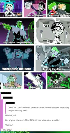 Danny Phantom was one of my favorite shows.<< I don't think a person on earth could not like Danny Phantom. Childhood Ruined, Right In The Childhood, Childhood Memories, Jack Kirby, Geeks, Cn Fanart, Fantasma Danny, Memes Arte, Randy Cunningham