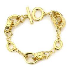 Golden Oval Link Bracelet!  #GoldJewelry #InspiredSilver #Gold #Jewelry #Bracelet http://www.inspiredsilver.com/