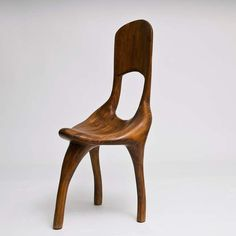 """""""sculptural wood chair in the manner of Wendell Castle"""""""