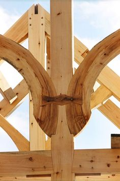 Embellishments on timber frame structures: Wise Owl Joinery Co., Handcrafted timber structures