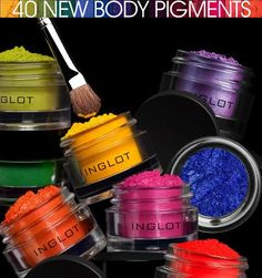 Gee Whiskers! Inglot 40 new body pigments