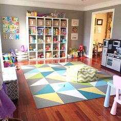 Our modern + bold playroom // Kate Decorates // KateDecorates.co