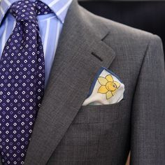 Smiling Pocket Square by Lander Urquijo