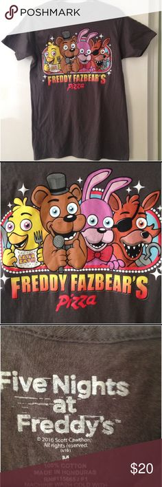 """Freddy Fazbear's Pizza Tshirt Approx 27"""" long and 17"""" wide. Soft and very good condition. Five Nights at Freddy's Shirts Tees - Short Sleeve"""