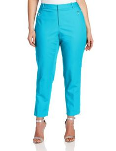 Calvin Klein Women`s Skinny Pant With Zipper $89.50