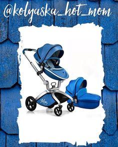 """Синяя милота Hot mom 3 в 1 🎀Hot Mom - это функциональная прогулочная коляска с сиденьем типа """"гамак"""". Сиденье очень высоко расположено от земли, что дает модели неоспоримые преимущества перед большинством обычных прогулочных колясок:➕ребенок на прогулке сидит высоко и имеет панорамный обзор➕зимой малыш находится высоко от снега и промерзшей земли➕в теплое время года ребенка не будет одолевать пыль и грязь☝🏼️ Прогулочная коляска Hot Mom подходит для детей с 6 месяцев. Люлька от рождения…"""