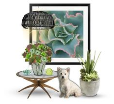 """""""Painting and Flowers - Succulents"""" by reluna ❤ liked on Polyvore featuring art"""