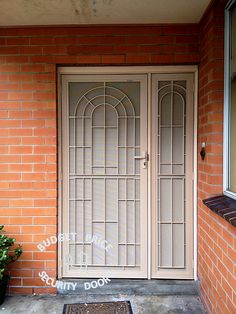 Cast grille security door and side panel from Budget Price in Melbourne #Melbourne #security & Dude Double Door Cast Grill Security Door by Budget #Price #Security ...
